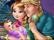 Anna and Kristoff hranesc bebelusul